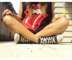 black, red, and converse image