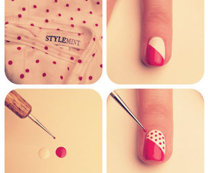design, nails, and stripes image