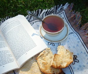 books, magical, and food image
