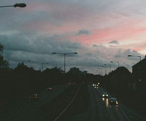 sky, car, and road image