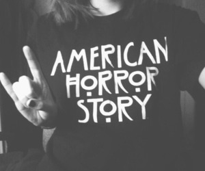 american horror story, black, and black and white image