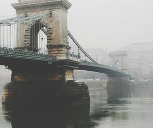 bridge, city, and vintage image