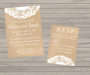invitation, rustic, and shabby chic image