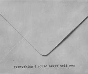 Letter, quotes, and text image