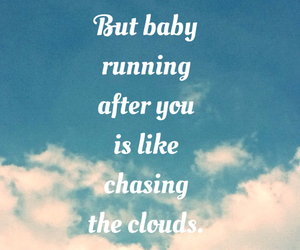 one direction, clouds, and Lyrics image