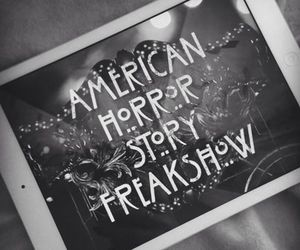 american horror story, black and white, and ahs image