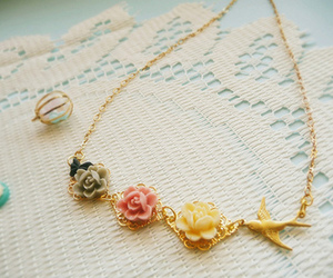 fashion, bird, and necklace image