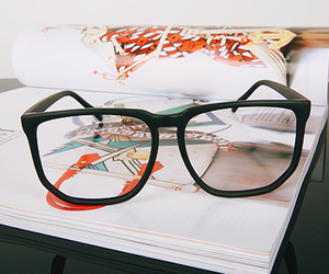 book, fashion, and glasses image