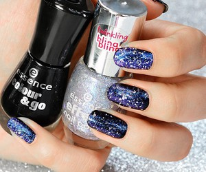 essence, nails, and galaxy image