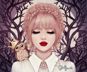 owl, drawing, and girly_m image