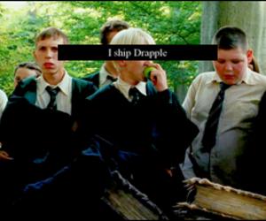 draco malfoy, tom felton, and drapple image