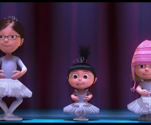 despicable me, agnes, and ballet image