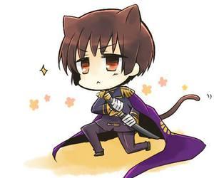 anime, cat, and chibi image