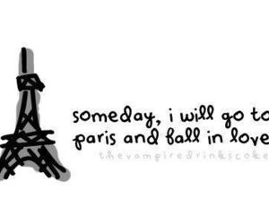 paris, love, and text image