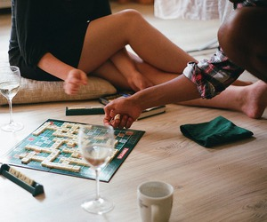 game, vintage, and scrabble image
