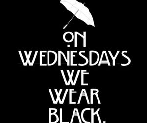 black, wensday, and americanhorrorstory image