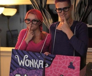 couple, nerds, and costume image