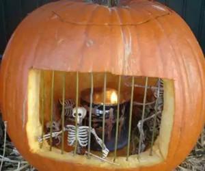 pumpkin, Halloween, and jail image