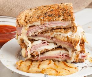 cheesy, sandwich, and food image