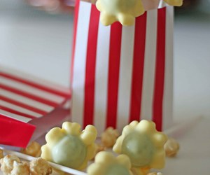 candy, chocolate, and Pop cOrn image