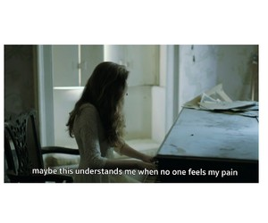 birdy, hurt, and piano image