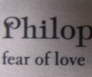 fear, love, and philophobia image