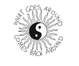 sun, quote, and karma image
