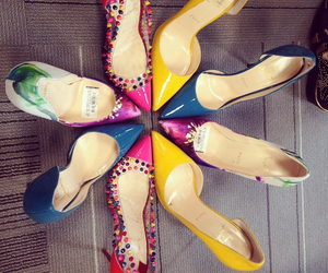 colors, louboutin, and shoes image