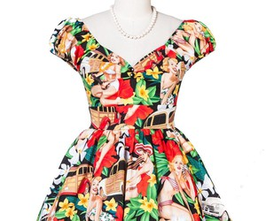 50s, Pin Up, and vintage dress image