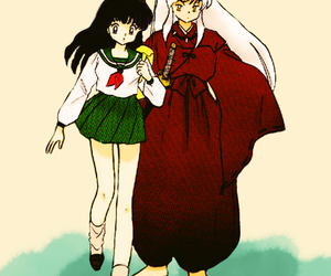collor, inuyasha, and kagome image