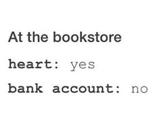 book, bookstore, and heart image