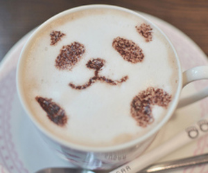 panda and coffee image