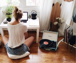 girl, room, and home image