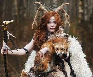 fantasy, forest, and fox image