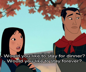 mulan, love, and disney image