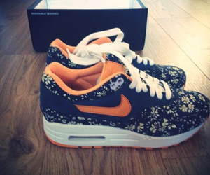 nike, air max, and flowers image