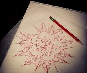 mandala, pretty, and red image