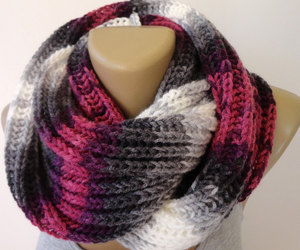 accessories, scarf, and knit scarf image