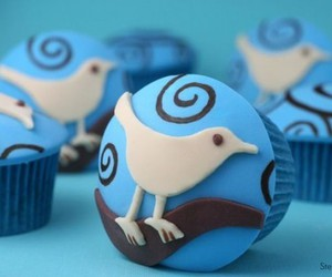 cupcake, blue, and twitter image