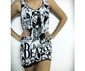 dress, nice, and the beatles image