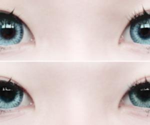 eyes, blue, and kawaii image
