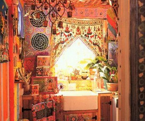 bohemian, hippie, and room image