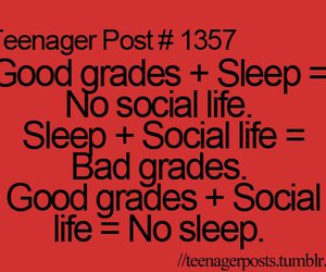 sleep, grades, and teenager post image