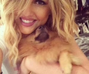 dog, girl, and perrie edward image