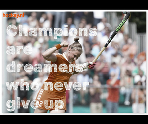 hockey, never give up, and quote image