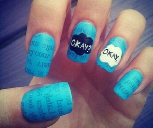 nails, okay, and blue image