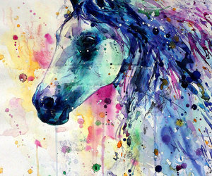cheval and peinture image