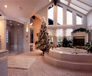 bathroom, christmas, and house image