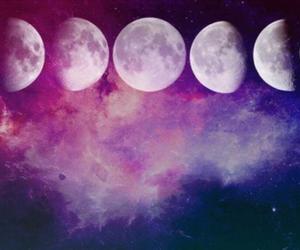 moon, galaxy, and sky image