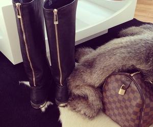 bag, black, and fur image